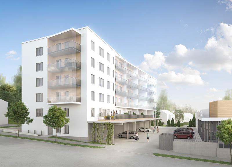 Urheilutie 40 asumisoikeuskerrostalo on rakenteilla Vaajakosken keskustaan Jyväskylään