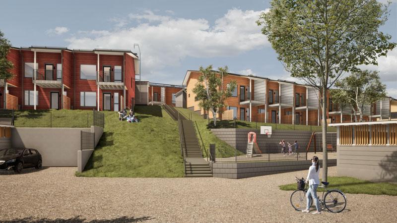 Nahkasuutarintie 14 ja 16 asumisoikeustalot Espoon Kurttilassa