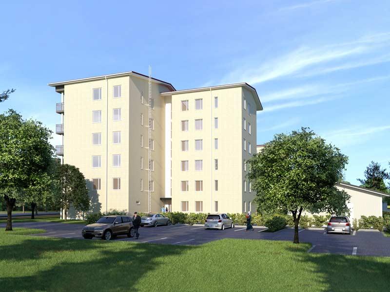 Nuolemontie 22:n uudet asumisoikeusasunnot rakennetaan Liedon keskustaan.