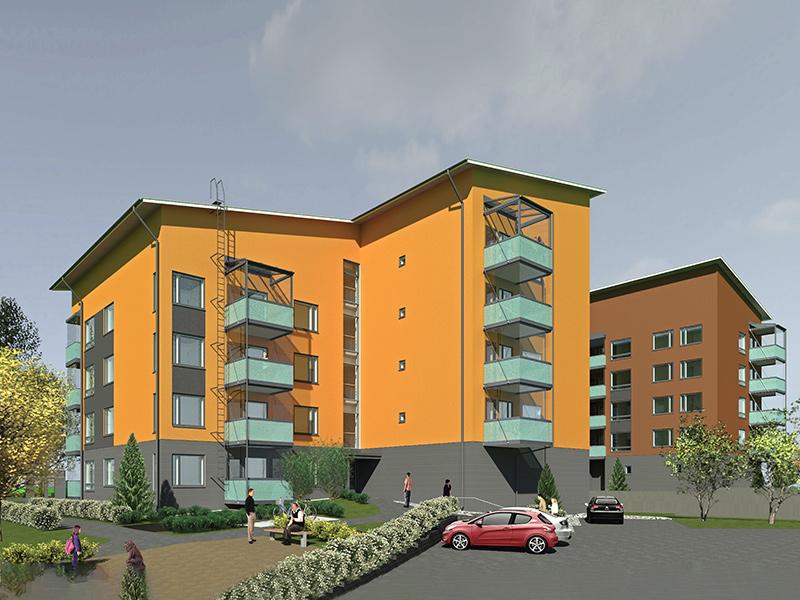 Peltisepankatu 1-2 asumisoikeustalot valmistuvat Lappeenrantaan arviolta lokakuun 2020 lopussa.