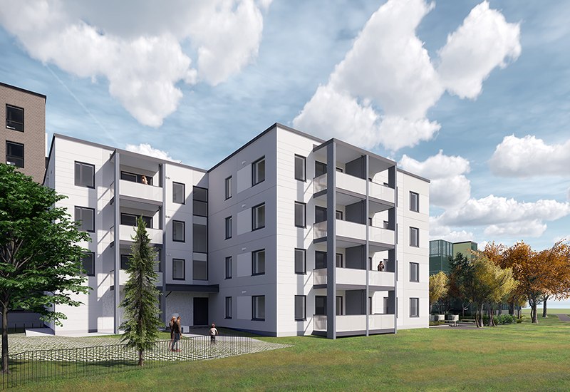 Tampereen Kauppiin on rakenteilla asumisoikeusasuntoja osoitteeseen Kuntokatu 11 E
