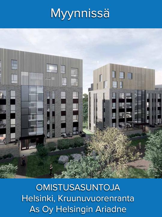 Myynnissä As Oy Helsingin Ariadne