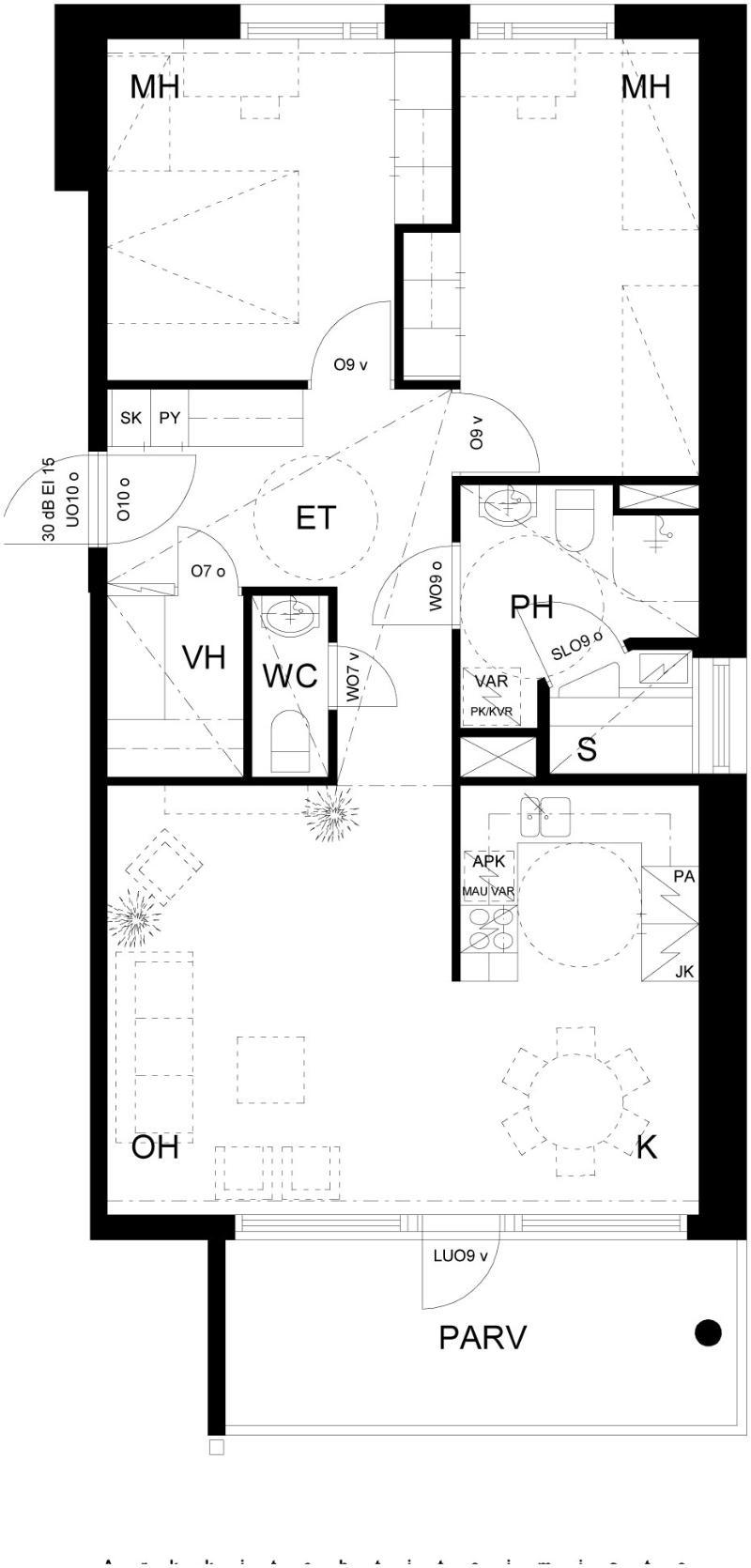 Asumisoikeusasunto 3h+k+s 75,5m2 Oulu (hid4338)