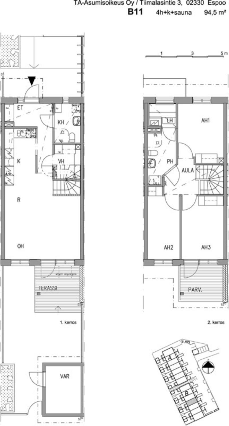 Asumisoikeusasunto 4h+k+s 94,5m2: Espoo (hid11223)