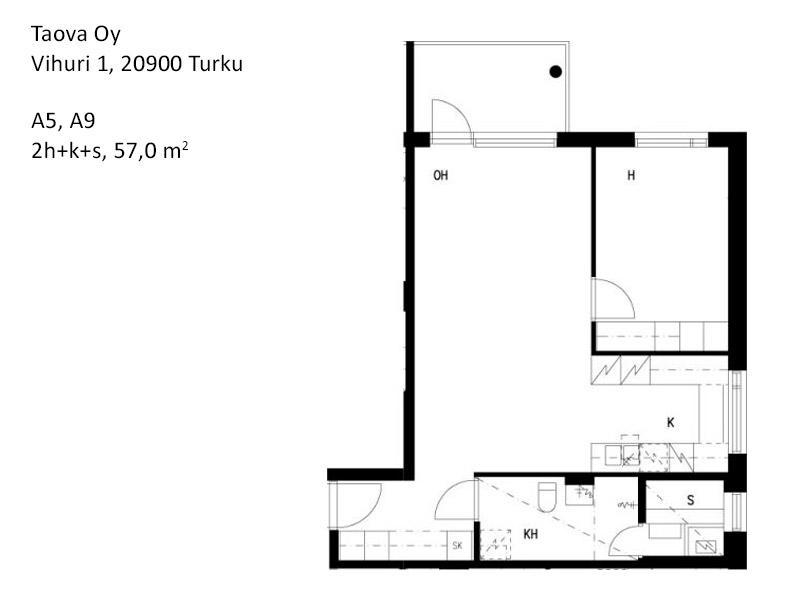 Vuokra Asunto 2h K S 57 0m2 Turku Hid11746
